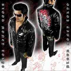 不動明王 中綿 ジャケット ヤクザ オラオラ メンズ 服 上着 和柄 18012■3XL