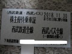 西武鉄道 西武バス 株主優待乗車証 10枚 即決