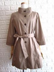 自由区★スタンドカラー ベルテッド コート