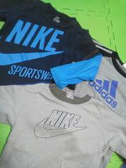 adidas長袖TシャツNIKE長袖Tシャツトレーナー3点120サイズ