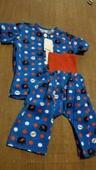新品★ぞうさん柄半袖パジャマ上下set腹巻き一体型95