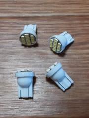 LED T10ウェッジ球(超白発光/SMD8連)4個セット