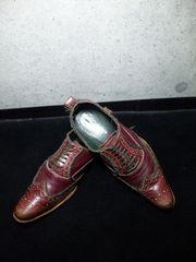 アルフレッドバニスター〓レースアップシューズ靴〓41/赤茶系〓
