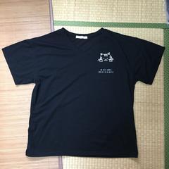 大きいサイズ4L・トラ猫のぞきポケットTシャツ。