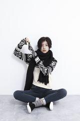 【新品】GUジーユーボヘミアンジャカード長袖セーターユニクロ