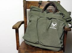 AAF・ビンテージキャンバス地ショルダーヘルメットバッグ・新品