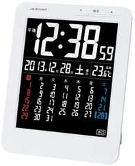 電波目覚まし時計 マンスリーカレンダー