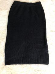 LOWRYS  FARM  ニットロングスカート  フリーサイズ
