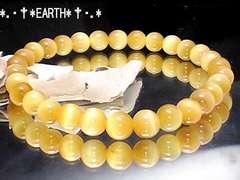 天然石★6ミリゴールデンタイガーアイAAA金色虎目石数珠