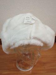 フェイクファー ベレー帽 ボアベレー帽 ビッグ 未使用品
