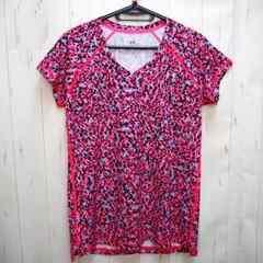 アンダーアーマー Vネック プリント 半袖Tシャツ L ピンク