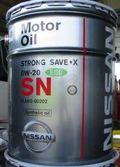☆ NISSAN ストロングセーブ・X. 0W-20. 化学合成オイル 20L.