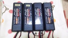 中古 ラジコンバッテリー(エンルートSF4000)4本セット