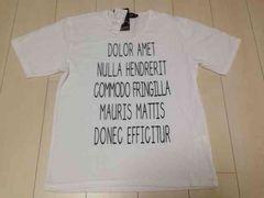 新品未使用   シンプル  ロゴTシャツ  Lサイズ
