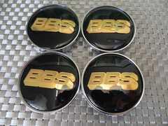 ☆BBS センター ホイール キャップ メッキベース4個68mm黒×金