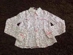 Ziddyの小花柄シャツ   120サイズ