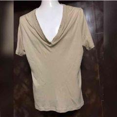 glamb グラム レーヨンコットン 変形ネックTシャツ 2 M