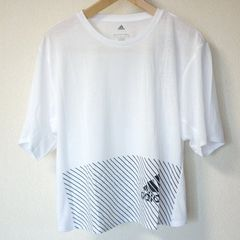 新品OT★アディダス白クライマライトロゴTシャツ送料164円