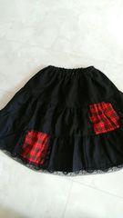 黒フリルスカート