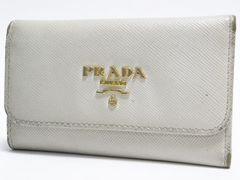 PRADAプラダ6連キーケース レザー 白