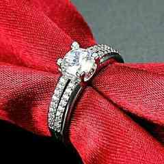 1円〜◆クリスタルダイヤモンド Ring 11号
