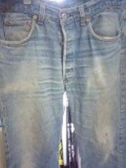 リーバイス501絶妙ヒゲ色落ちジーンズ太め