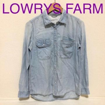#LOWRYS FARMデニムシャツ