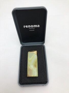 P065 美品★ renoma レノマ ライター 日本製 箱付き