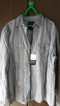3Lサイズ!ヘンリボーンZIP使い!高貴紳士的シャツ!ジャケットとしても着れます