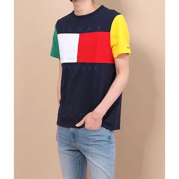 ◆TOMMY HILFIGER/トミー◆新品!!半袖クルーネック配色Tシャツ★ビビットカラー