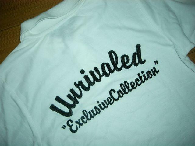 UNRIVALED×LET IT RIDE13ポロシャツ1白ステッチ刺繍  < 男性ファッションの