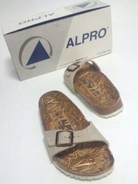 美品ビルケンシュトックアルプロサンダル北欧天然素材健康靴リンネルナチュリラリゾート
