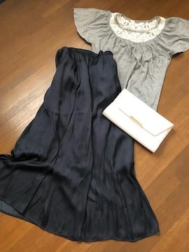 【spic&span】Nobleバタフライスリーブカットソーレース刺繍