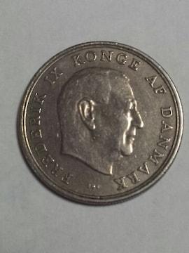 デンマーク 5クローネ硬貨 1961年