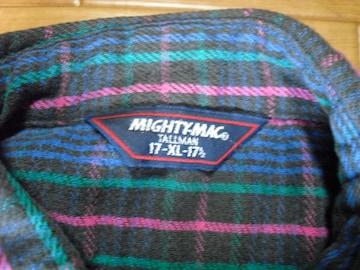 MIGHTY-MAC マイティマック ネルシャツ USA−XL