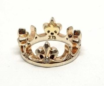 正規ジャスティンデイビスリング指輪王冠ストーンクラウ