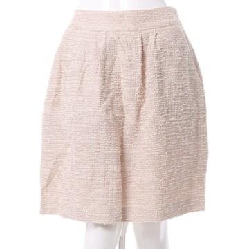 Couture brooch☆キラキラツイードスカート☆ベージュ♪新品