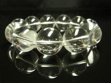開運招福パワーストーン 本水晶クリスタルブレスレット 20ミリ数珠
