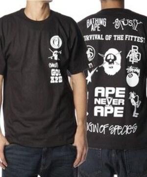 †完売御礼†APE×STUSSY†コラボレーションTシャツ