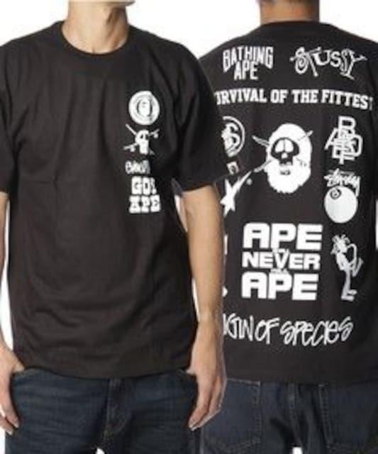 †完売御礼†APE×STUSSY†コラボレーションTシャツ  < ブランドの