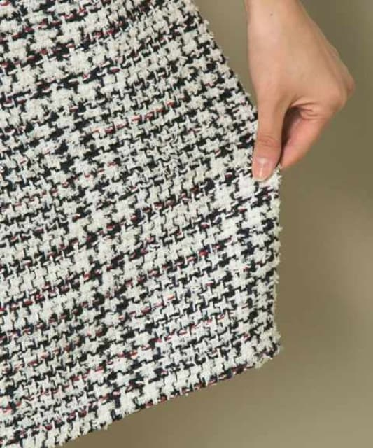 オンワード2015年春 自由区×TOURNIER(トゥルニエ) チェックツィードスカート サイズ36 < ブランドの