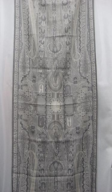 本物正規極美品エトロ ストールスカーフ グレー系