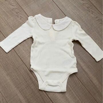babyGAP長袖襟付きロンパ3-6m