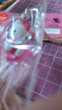 キティ☺根付け✨ビンーズ 仰向け ピンク