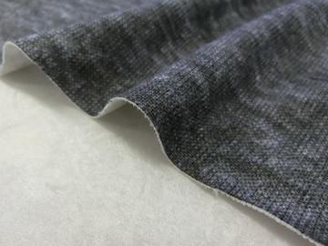 綿系ニット生地140cm×3m 杢ブラック