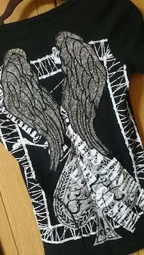 背中バックウィング刺繍!悪羅ストレッチTシャツ!新同
