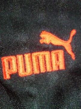 PUMA プーマ ジャージ 上着 ジャケット ジャンパー ブラック レッド 160