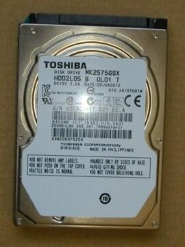 2.5インチ SATA ハードディスク250GB
