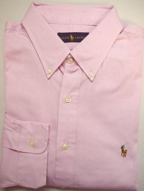 ラルフローレン 長袖ボタンダウン ドレスシャツ 17.5(44) ピンク  < ブランドの