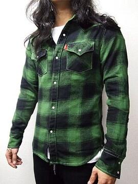 ブリューテンブラット ブロックシャツ 緑 L